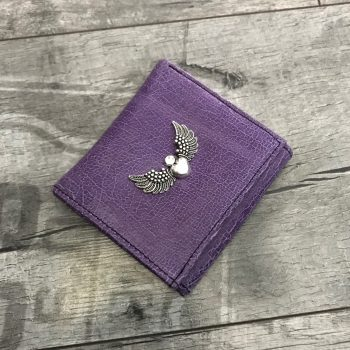 leather wallet chic mini purple evileve