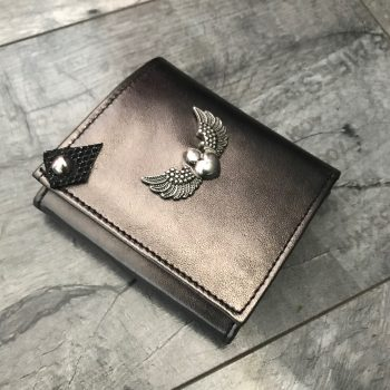 leather wallet chic mini metallic evileve