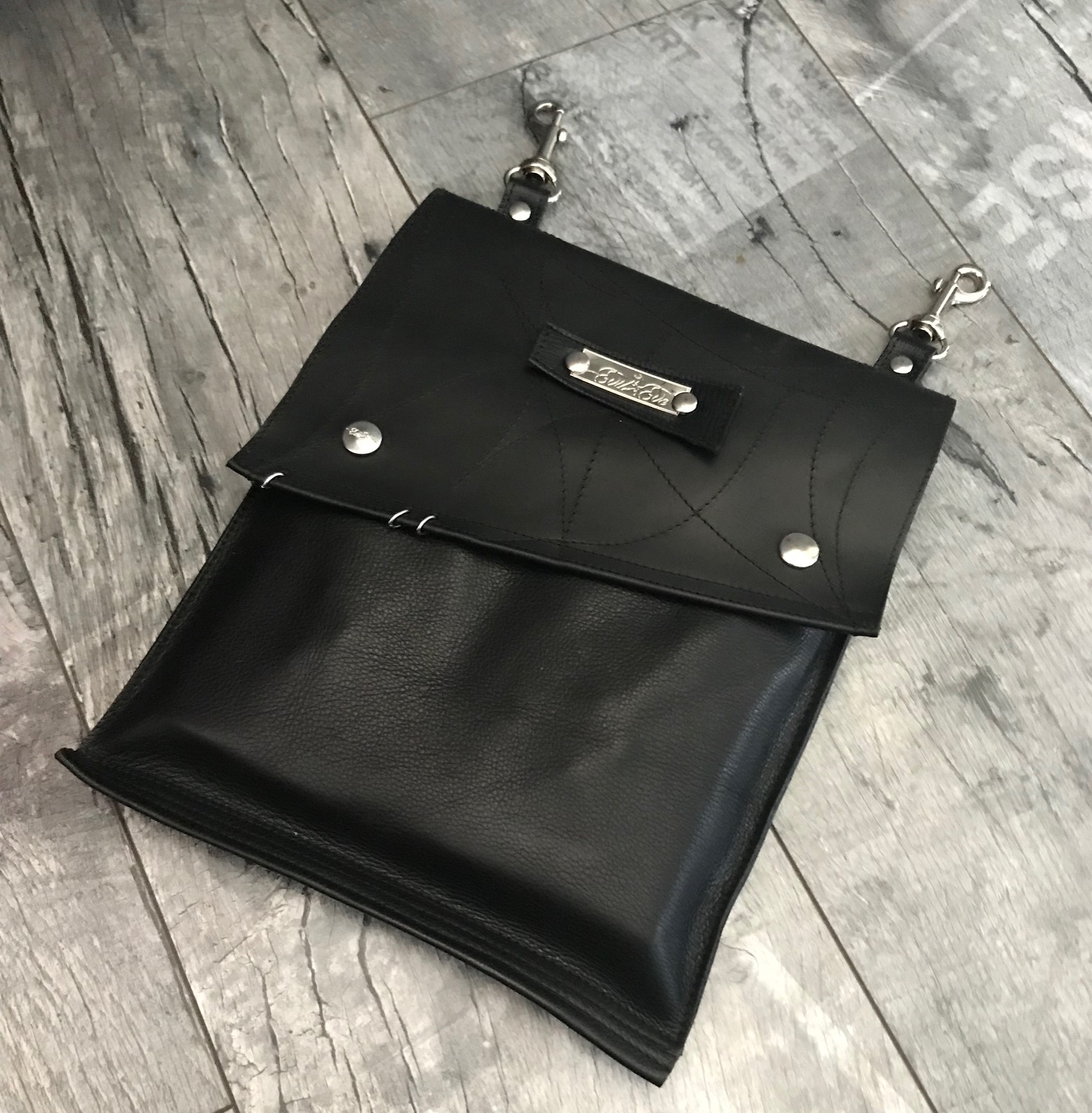 EvilEve hands free utility leather bag