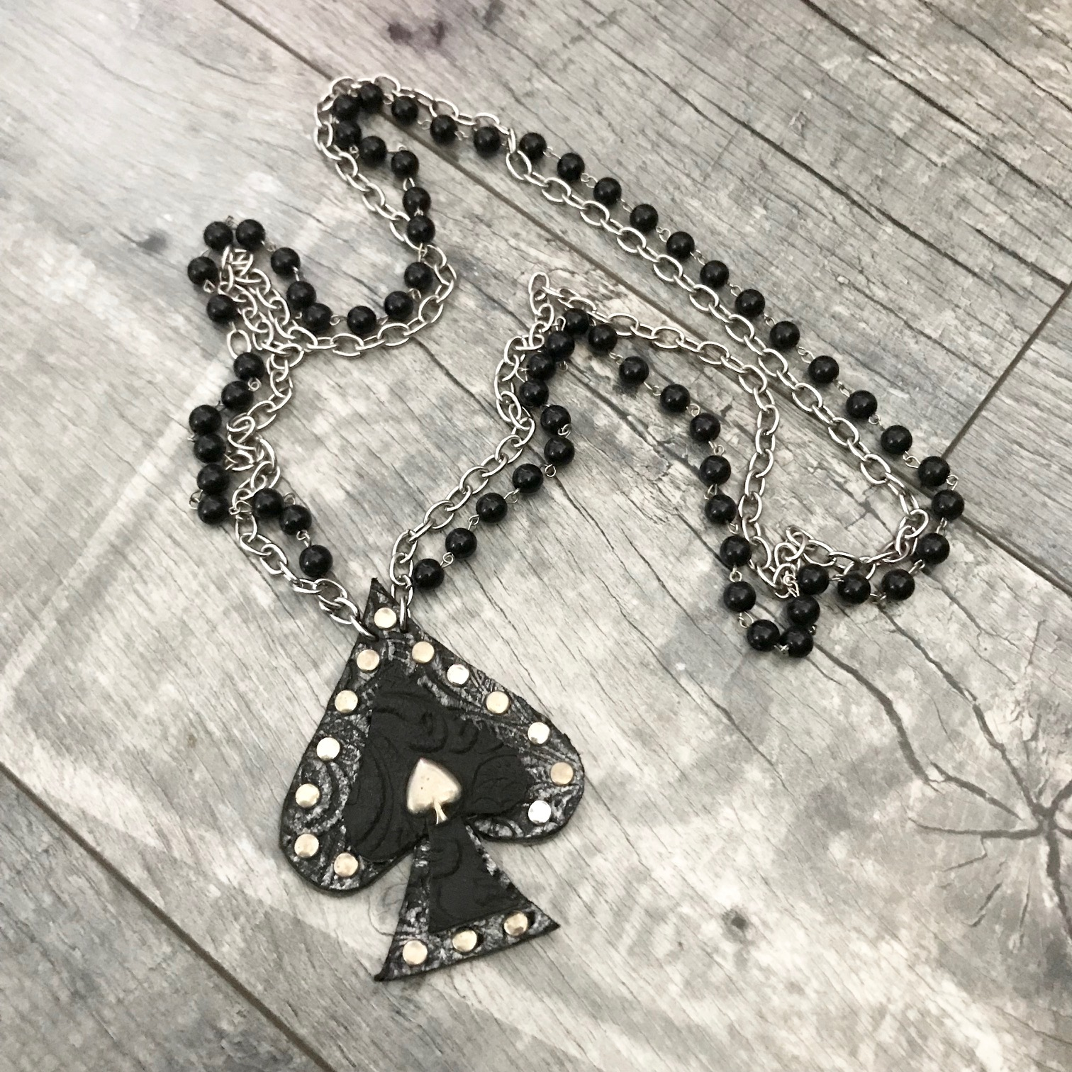 spade evileve leather necklace