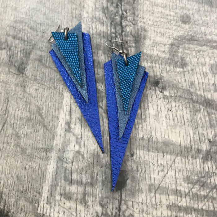 dream blue leather earrings evileve