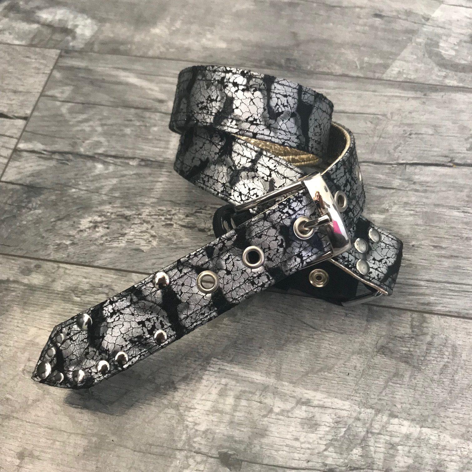 black silver platinum sandy gold belt evileve