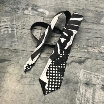 zebra leather tie evileve