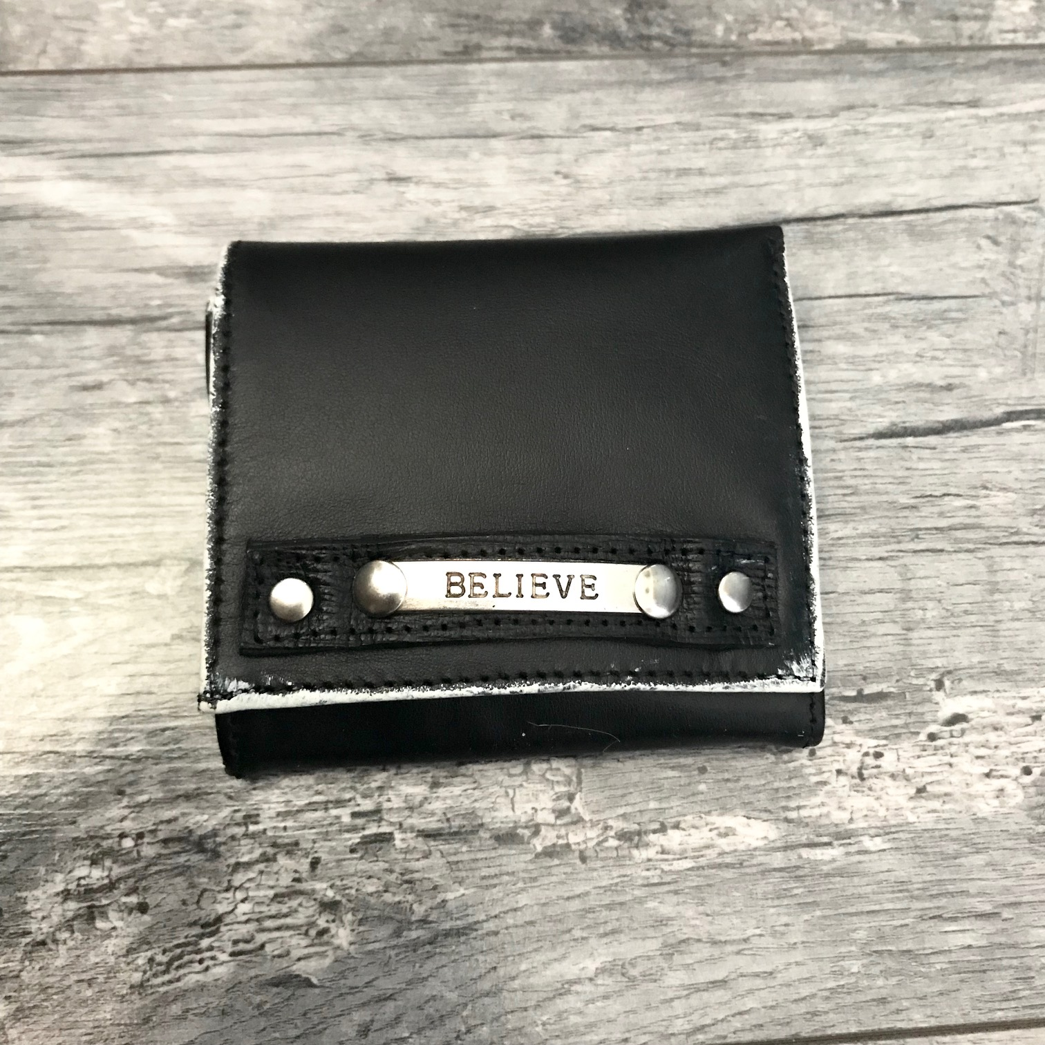 leather wallet men believe evileve