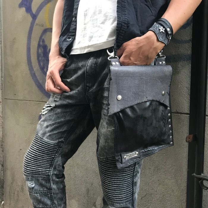 leather utility bag for men evileve