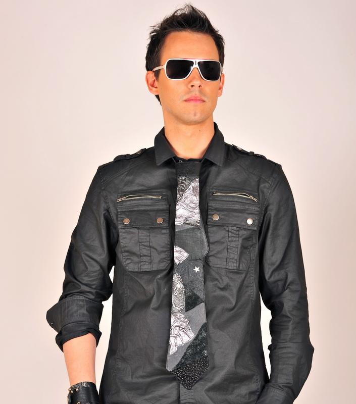 blackstar leather tie evileve