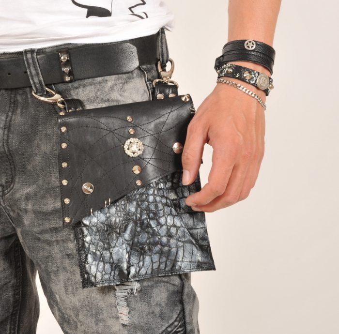 EvilEve Men hands free leather utility bag