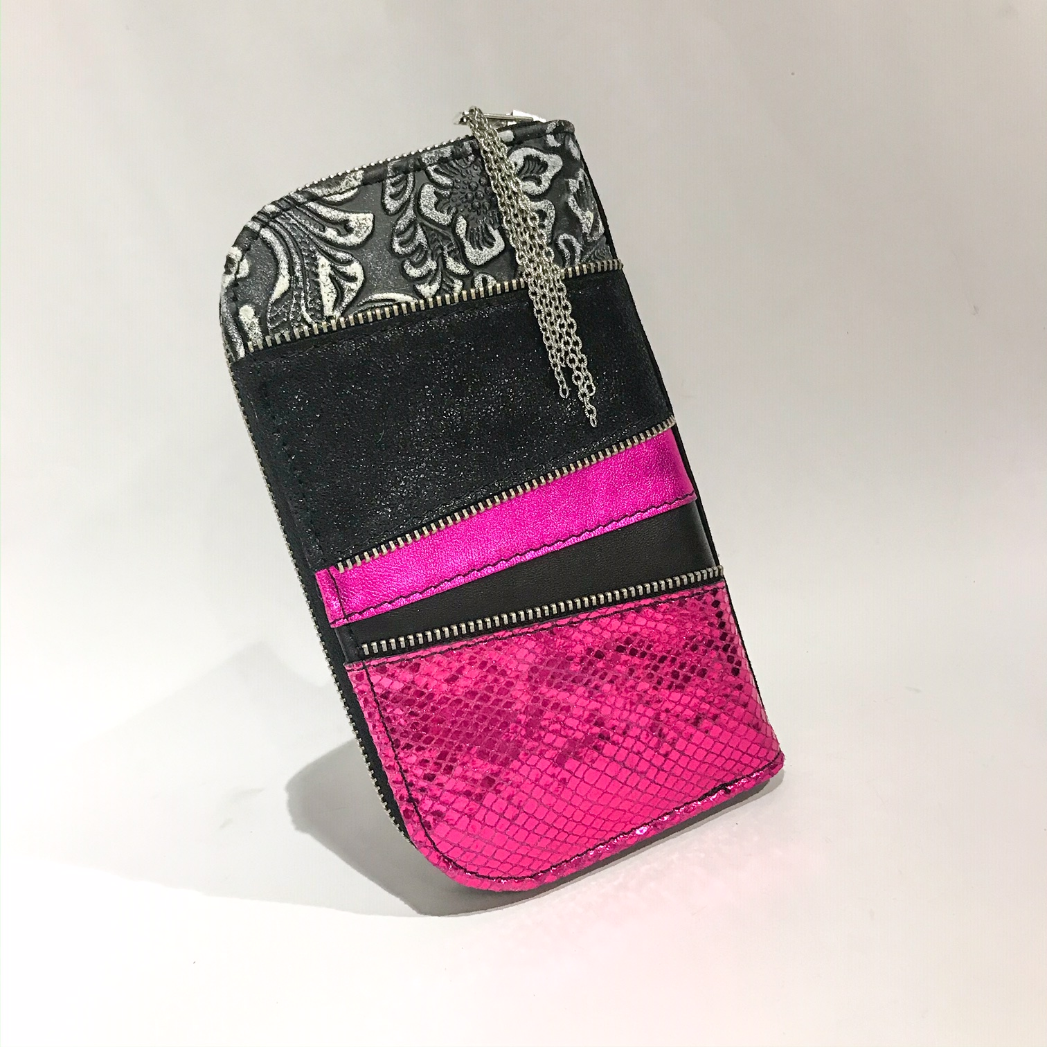 pink maxi chic leather wallet evileve