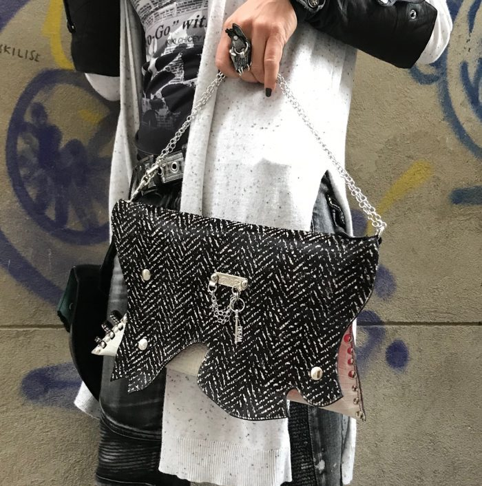 evileve leather clutch passion