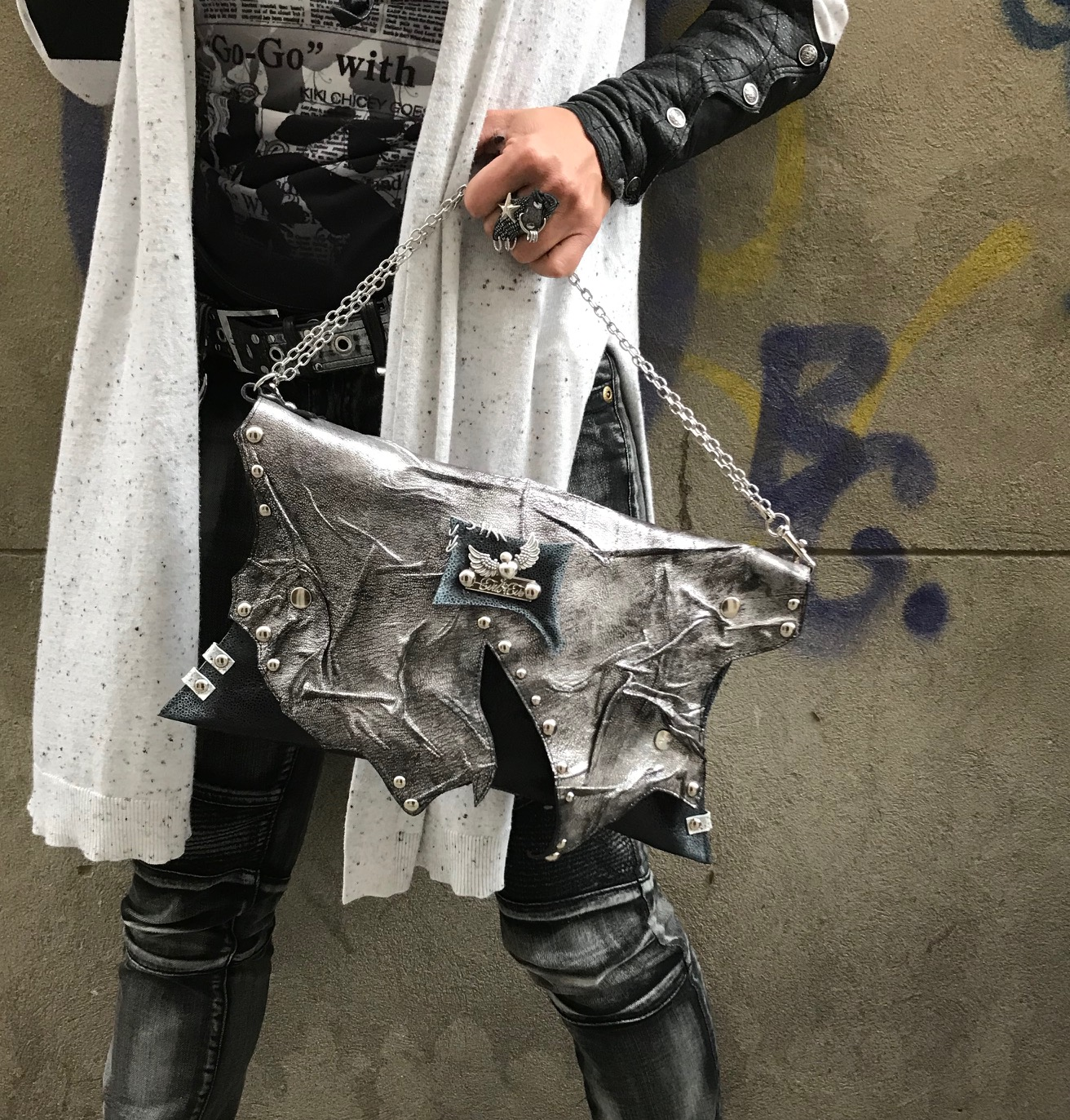 leather clutch Stand Out EvilEve