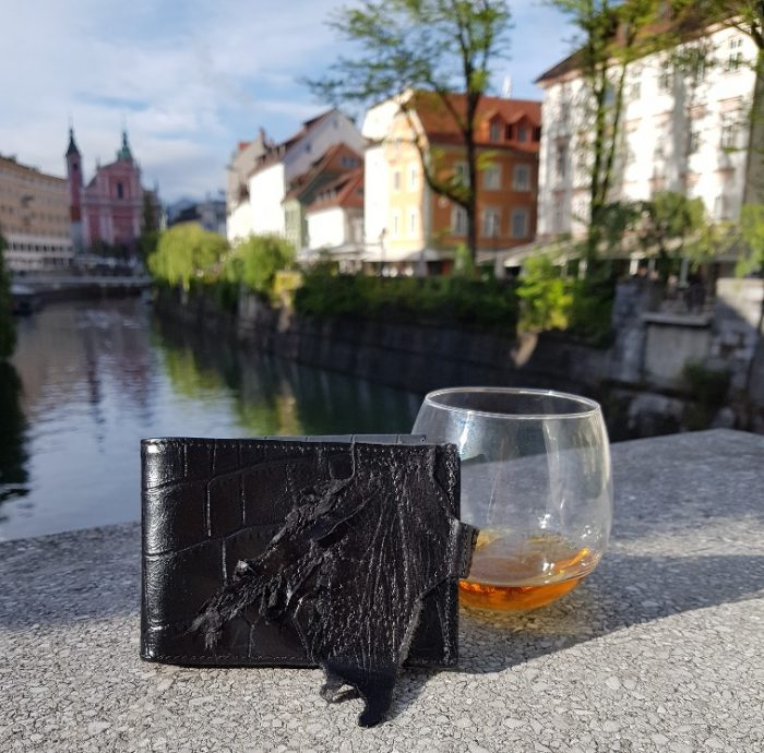 leather wallet blackstar throne evileve men