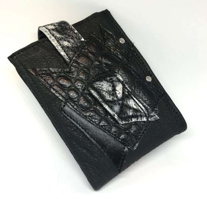 blackstar zero men leather wallet evileve