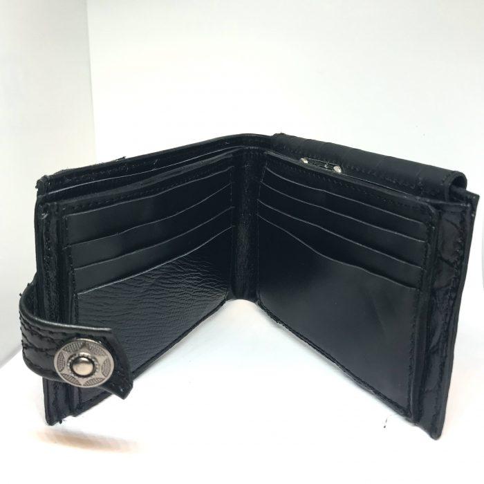 blackstar throne leather wallet men evileve