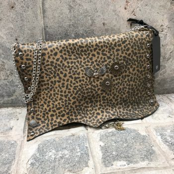 leather clutch sugar brownie evileve