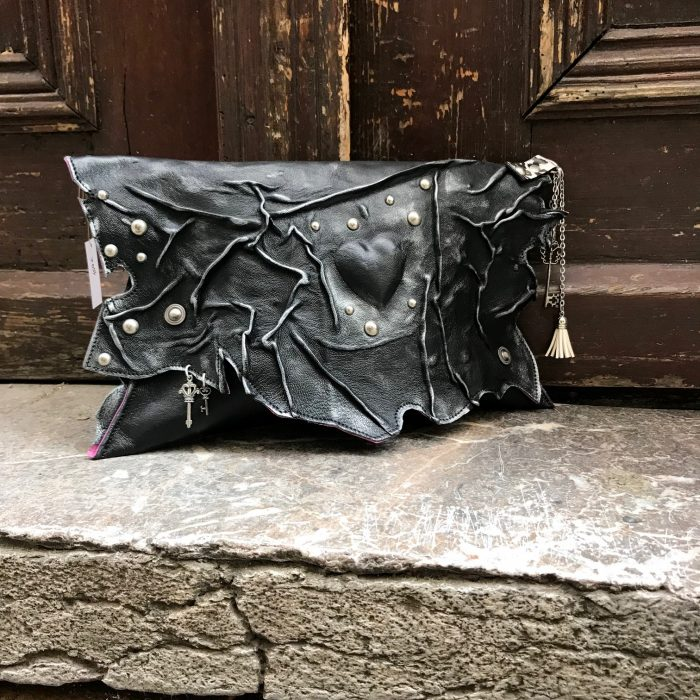 leather clutch blackheart evileve