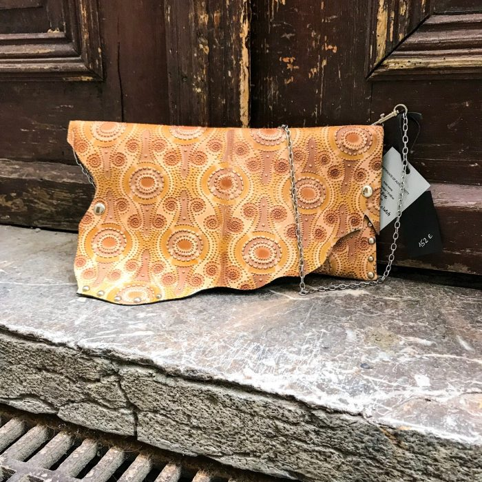 leather clutch chic brownie evileve