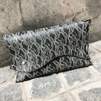 LEATHER CLUTCH SUGAR LACE EVILEVE