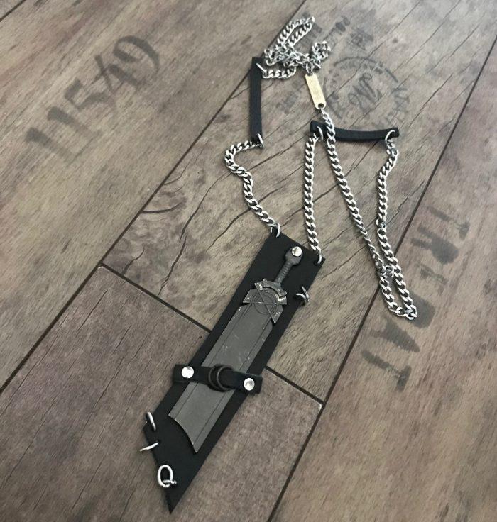 rockstar sword unisex necklace evileve