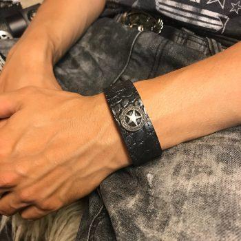 leather bracelet classic men star