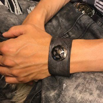 star rocker leather bracelet evileve