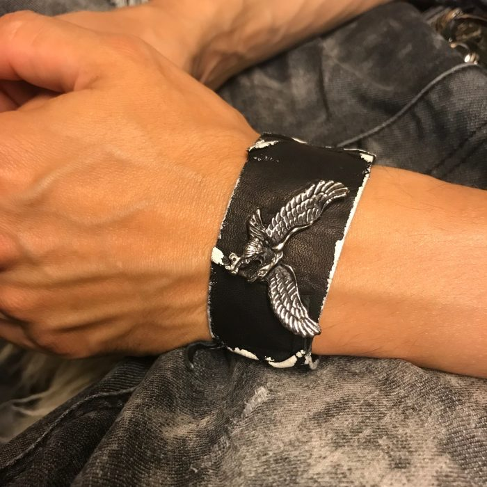 Eagle leather bracelet evileve