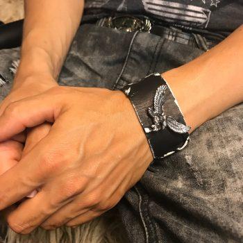 Eagle leather bracelet evileve