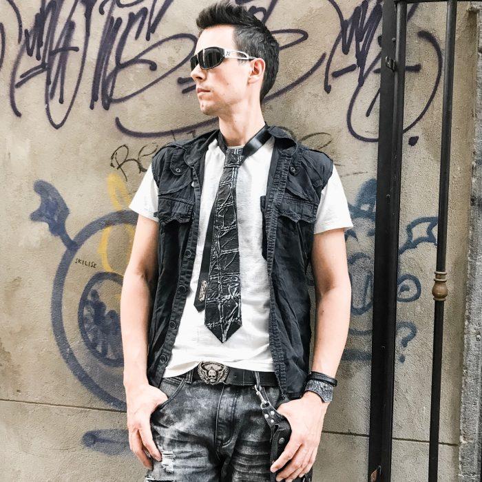 blackstar classy leather tie unisex evileve
