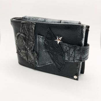unique men leather wallet blackstar crew evileve