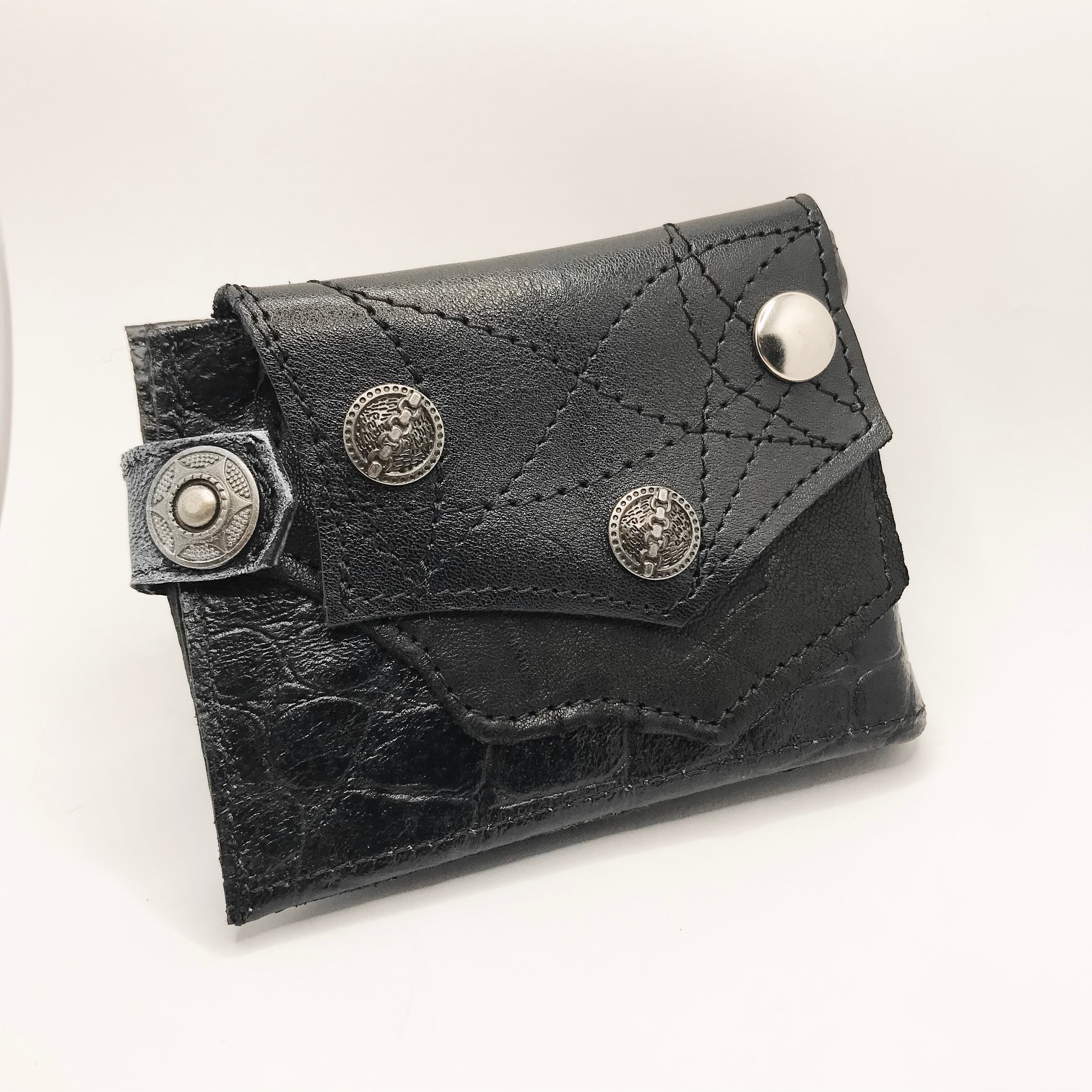 unique men leather wallet blackstar shot evileve