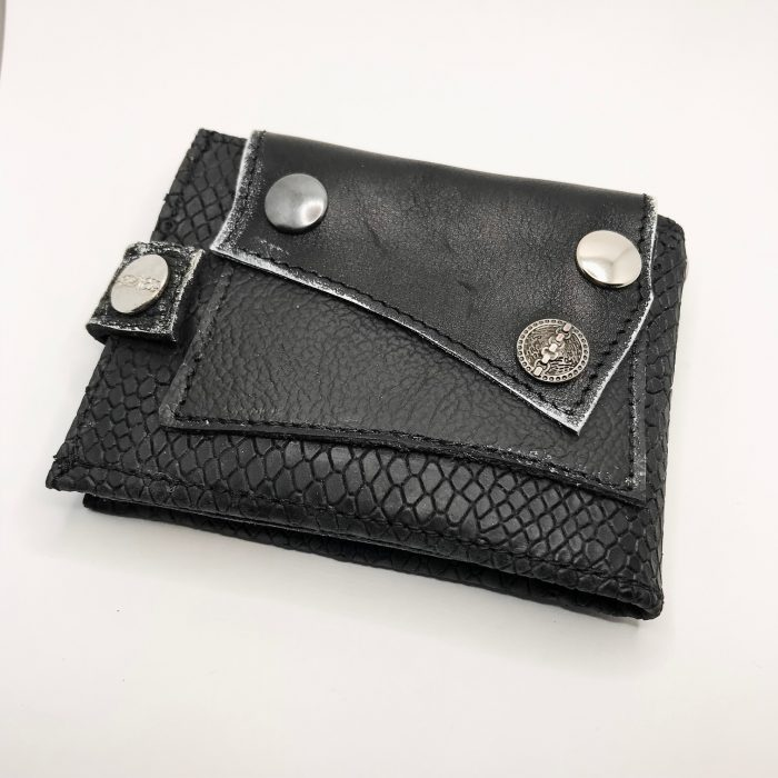 unique men leather wallet blackstar flow evileve