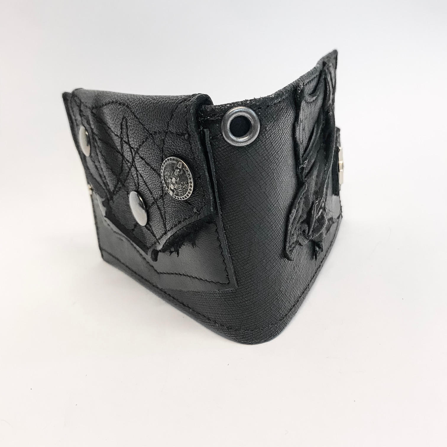 unique men leather wallet blackstar cracked evileve
