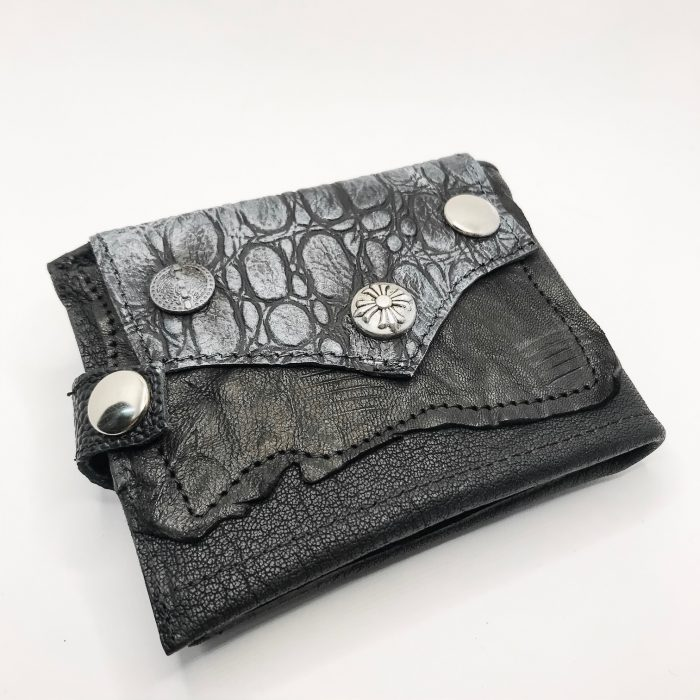 unique men leather wallet blackstar style evileve