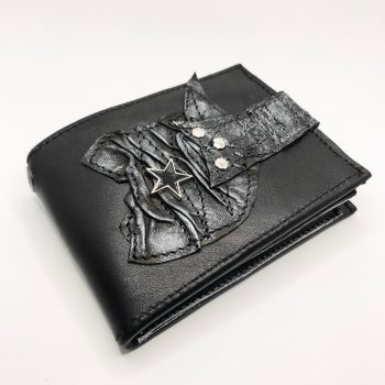unique men leather wallet blackstar core evileve