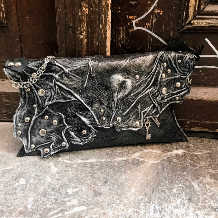 unique leather clutch blackheart 2 evileve