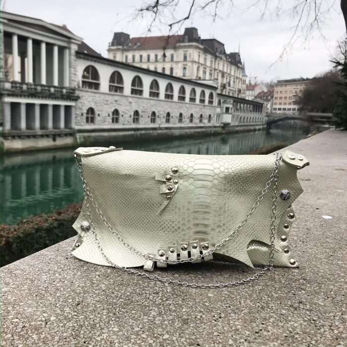 unique leather clutch bag pearl love evileve
