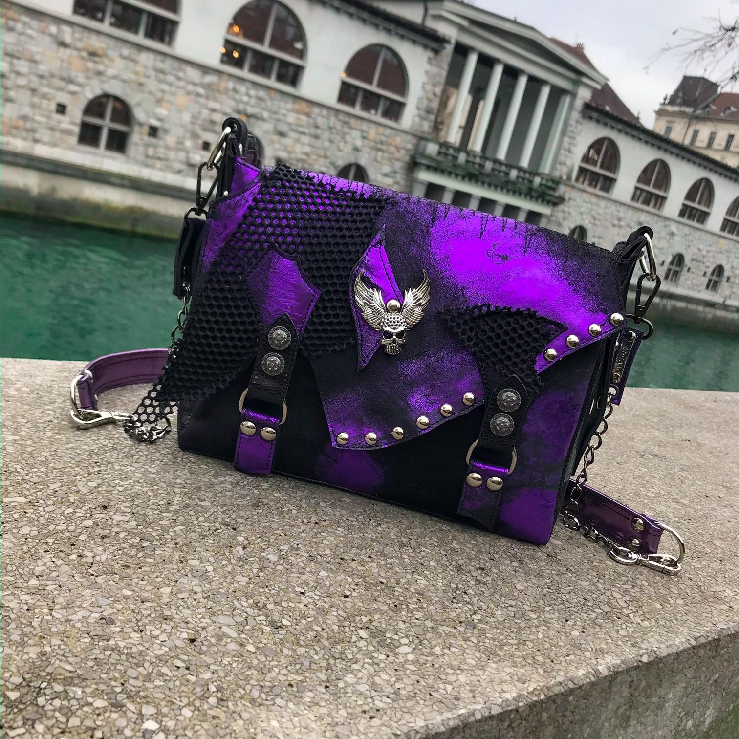 unique handmade leather messenger bag lila cavallino evileve