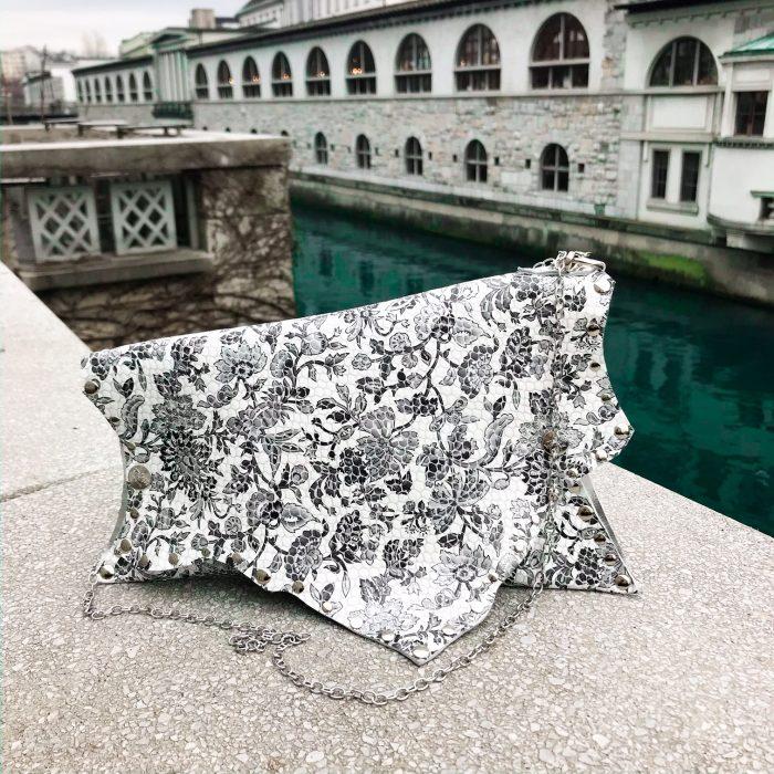 unique leathere clutch bag rose love evileve