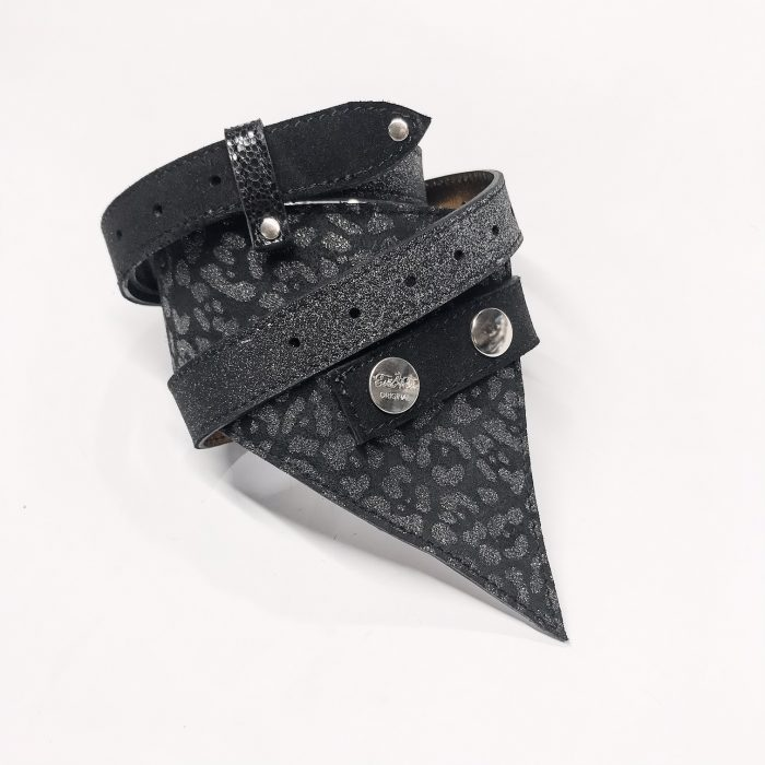 unique handmade leather belt perfect shaper black tiger evileve
