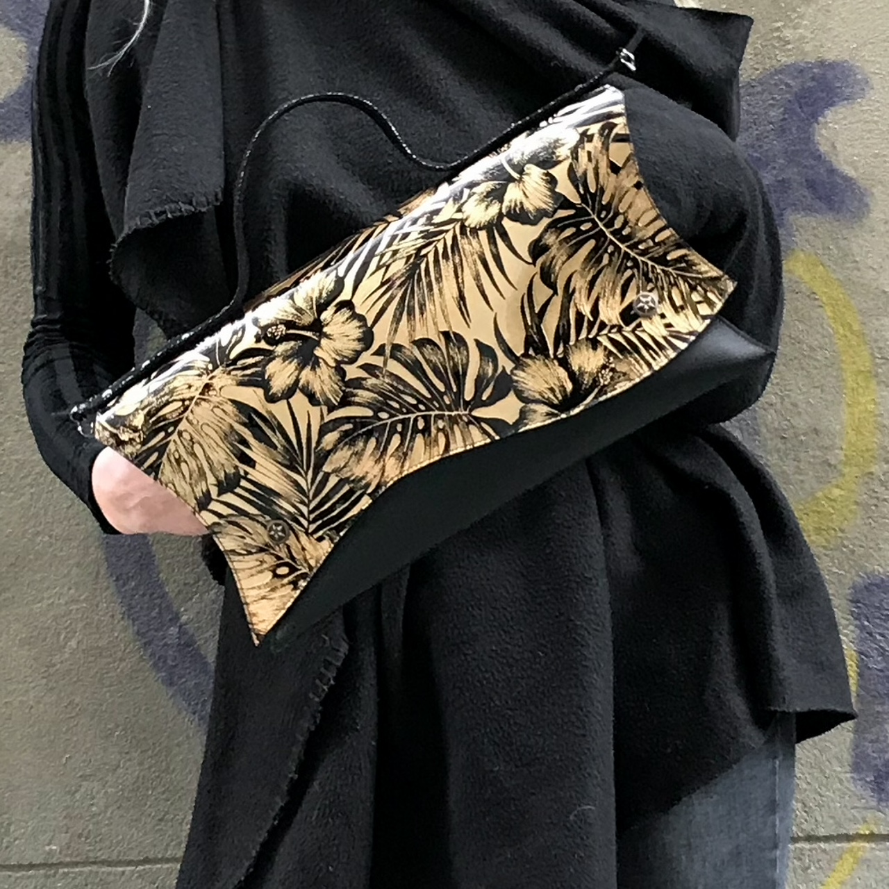 unique leather clutch dessert rose evileve