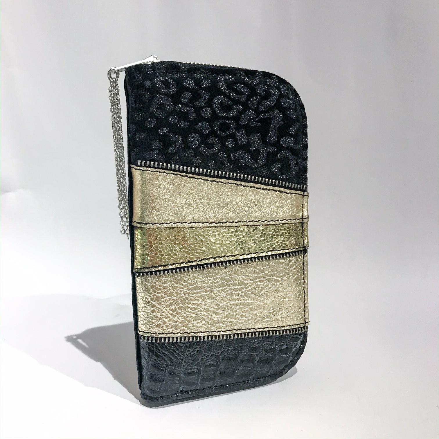 platinum love chic maxi leather wallet evileve