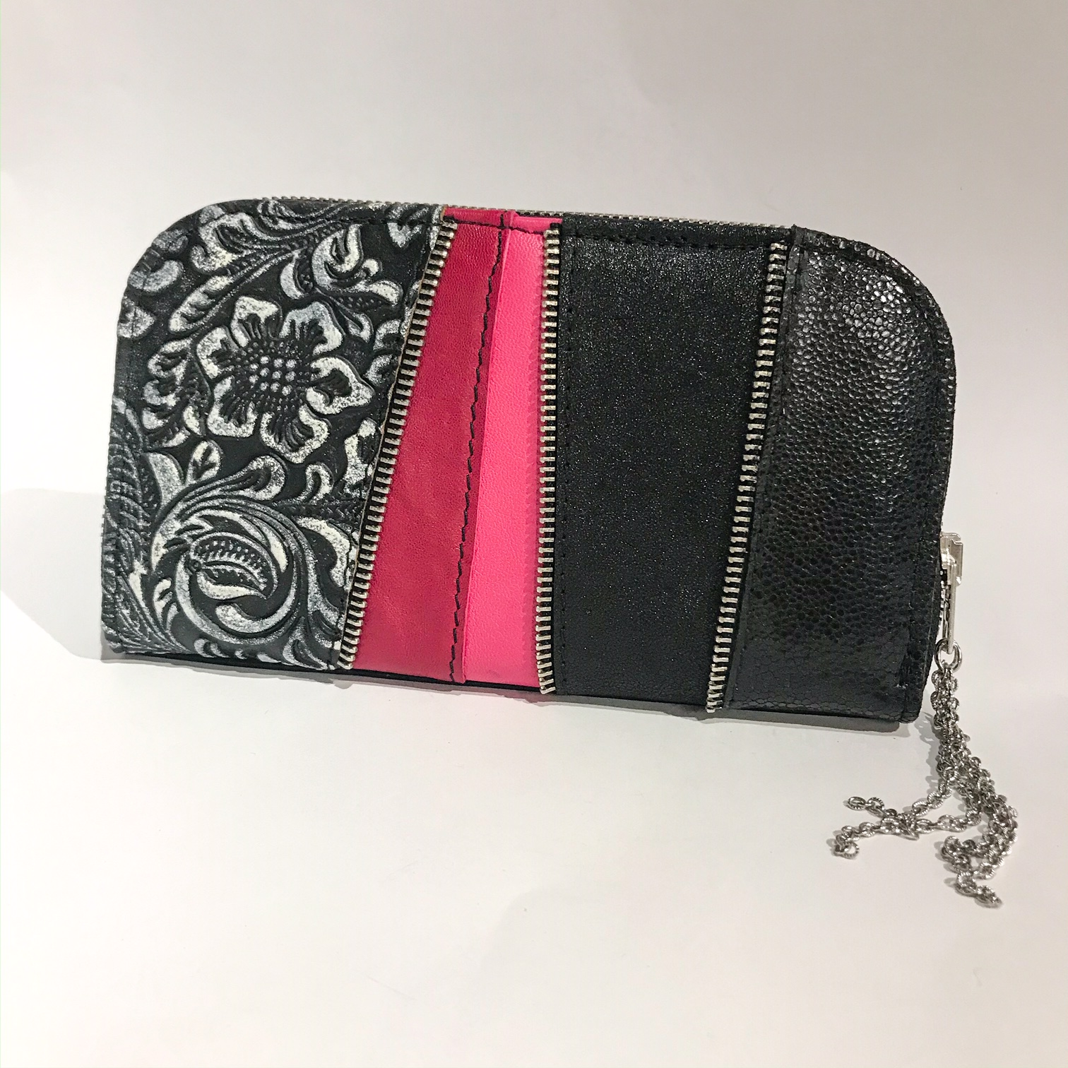 pink love maxi chic leather wallet evileve