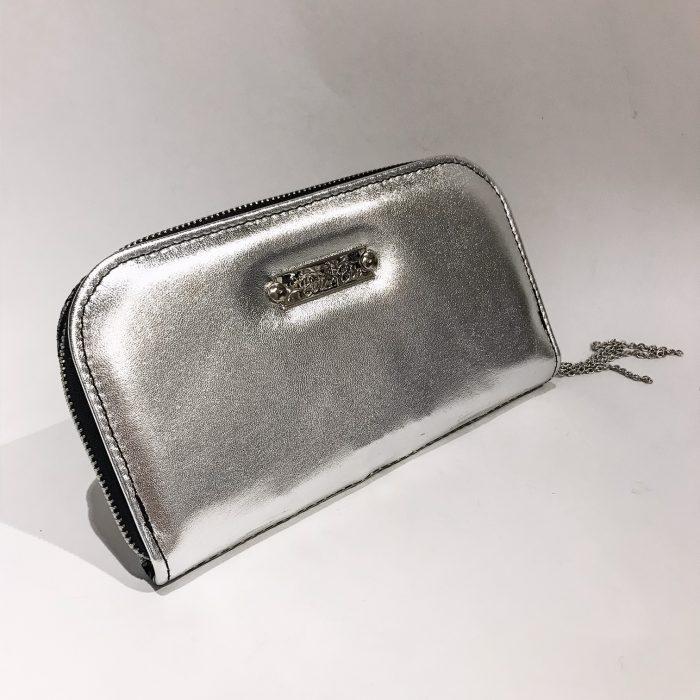 platinum mix maxi chic leather wallet evileve