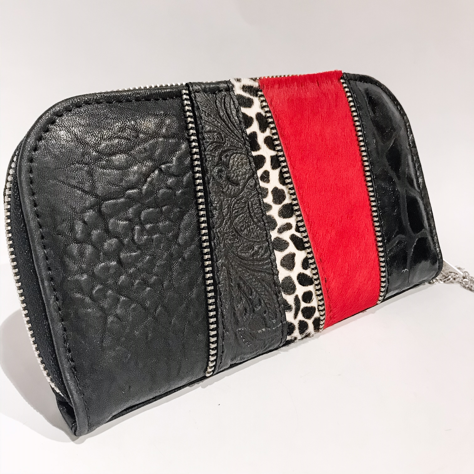 red love chic maxi leather wallet evileve