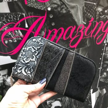 black love maxi chic leather wallet evileve