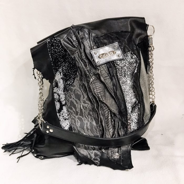 unique leather tote bag black secret vol2 evileve