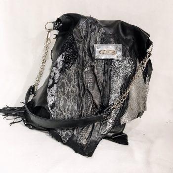 unique leather tote bag black secret vol2 evileve