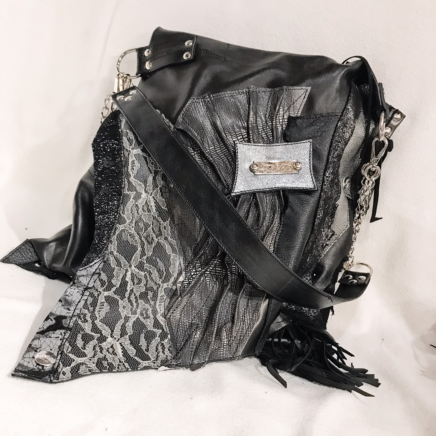 unique leather tote bag black secret evileve