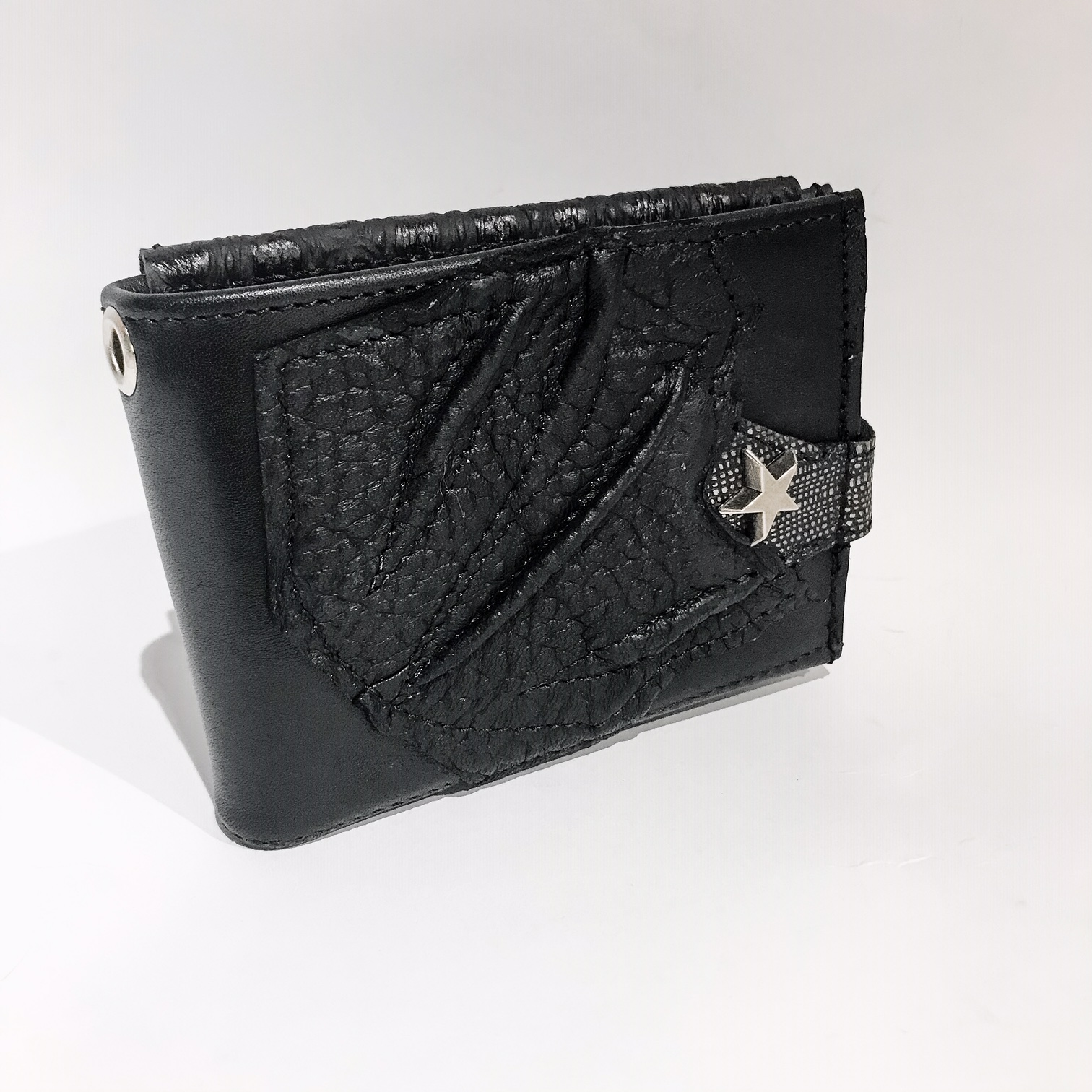 Blackstar Silverish Leather Wallet EvilEve