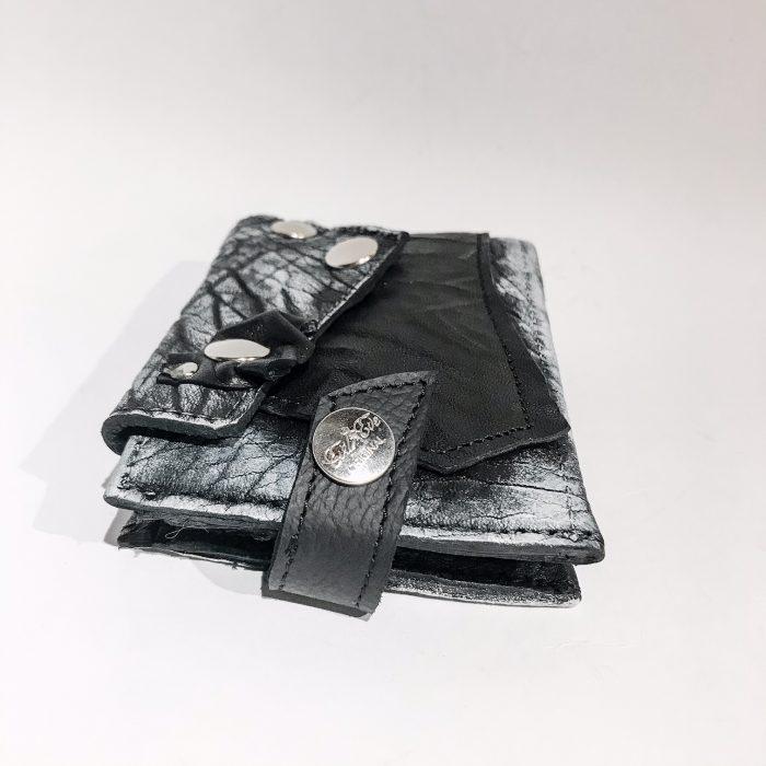Blackstar White Leather Wallet EvilEve