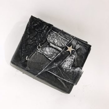 Blackstar GunMetal Leather Wallet EvilEve
